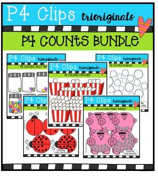 P4 COUNTS Bundle (P4 Clips Trioriginals Digital Clip Art)