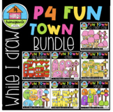 WHILE I DRAW P4 Fun Town BUNDLE (P4 Clips Trioriginals