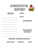 WHILE YOU WERE OUT- SUB REPORT