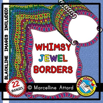 CLIPART BORDERS: WHIMSY JEWEL CLIPART BORDERS: WHIMSY CLIPART FRAMES