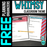 WHIMSY Theme Decor Planner by Clutter Free Classroom