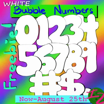 WHITE BUBBLE NUMBERS