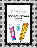 3rd Grade Common Prefixes Flash Cards (Aligned to American Reading Co IRLA)