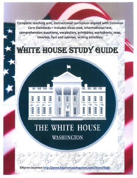 WHITE HOUSE Washington DC President Study Guide Complete