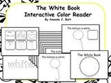 WHITE Interactive Color Sight Word Reader; Kindergarten; Autism;