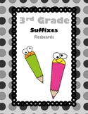 3rd Grade Suffixes Flash Cards (Aligned to American Readin