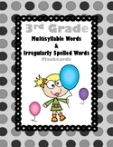 3rd Multisyllable/Irreguarly Spelled Words Aligned to Amer