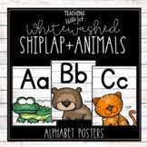 WHITE SHIPLAP & ANIMALS ALPHABET POSTERS