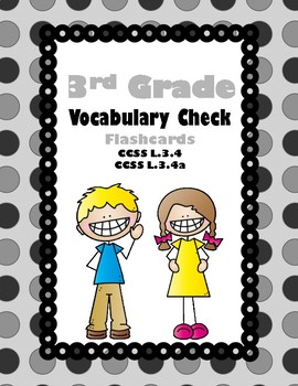 3rd Grade Vocabulary Check Flash Cards (Aligned to American Reading Co IRLA)