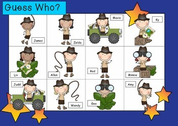 WHO AM I? # 14 ADVENTURE KIDS Oral language speaking game WHOLE CLASS
