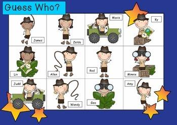 WHO AM I? # 14 ADVENTURE KIDS Oral language speaking game