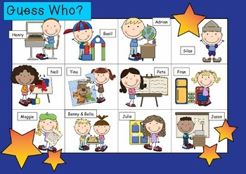 WHO AM I ? # 02 SCHOOL KIDS Oral language speaking game WHOLE CLASS