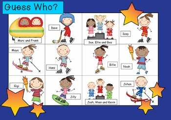 WHO AM I? # 04 OLYMPIC KIDS Oral language speaking game WHOLE CLASS