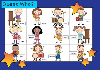 WHO AM I? # 05 MUSICAL KIDS Oral language speaking game WHOLE CLASS