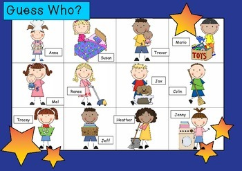 WHO AM I? # 06 CHORES KIDS Oral language speaking game WHO