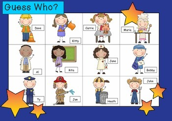 WHO AM I? # 07 COMMUNITY WORKERS KIDS Oral language speaking game WHOLE CLASS