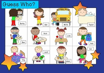WHO AM I? # 08 EVERYDAY KIDS Oral language speaking game WHOLE CLASS