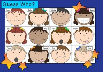 WHO AM I? # 09 EMOTIONAL KIDS Oral language speaking game