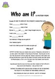 BACK TO SCHOOL WHO AM I? A mystery Poem for students
