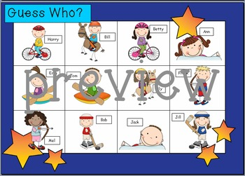 WHO AM I? # 01 OLYMPIC KIDS Oral language speaking game WHOLE CLASS