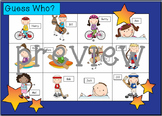 WHO AM I? # 01 OLYMPIC KIDS Oral language speaking game WH