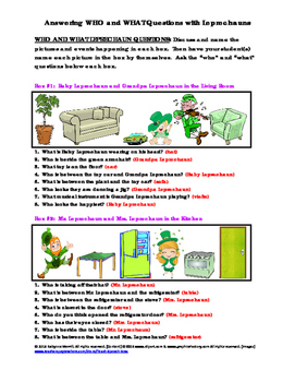 Who and What Leprechan Questions