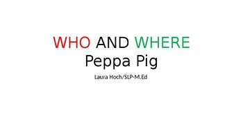 WHO AND WHERE PEPPA PIG