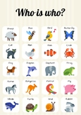 WHO IS WHO? - ANIMALS AND JOBS