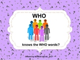 WHO Knows The Who Words?