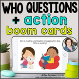 WHO Questions + Actions | Distance Learning BOOM CARDS™