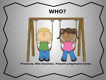 WHO Questions Pronoun Book
