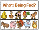WHO'S BEING FED? Pocket Chart Riddles