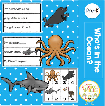 WHO'S IN THE OCEAN POCKET CHART RIDDLES