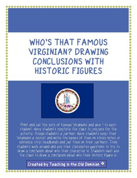 Who's That Famous Virginian? Drawing Conclusions With Historic Figures