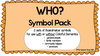 WHO? (people) Symbol Pack
