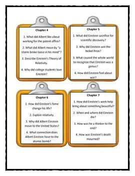 WHO WAS ALBERT EINSTEIN? by Jess Brallier - Discussion Cards