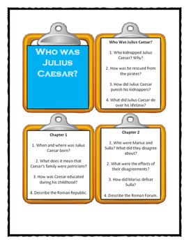 WHO WAS JULIUS CAESAR? by Nico Medina - Discussion Cards