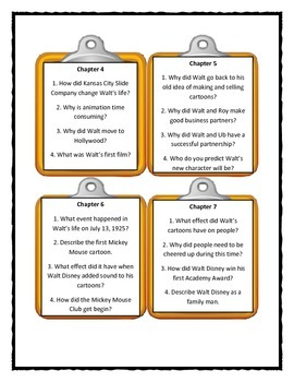 WHO WAS WALT DISNEY? by Whitney Stewart - Discussion Cards