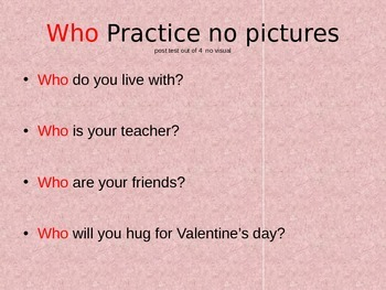 WHO and WHERE Valentine's