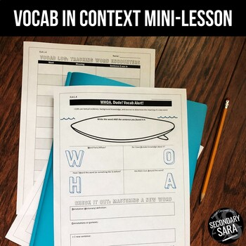 Vocab-in-Context Graphic Organizer: Dealing with Unknown Words