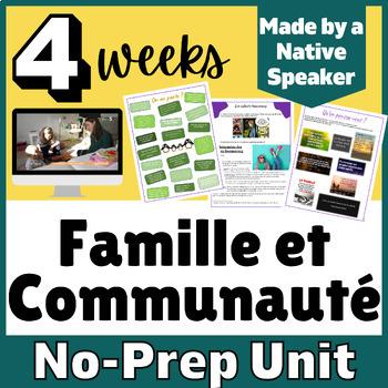 THEMATIC UNIT PLANS french français Famille et Communautés 3+weeks of materials