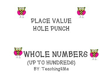 WHOLE NUMBER HOLE PUNCH