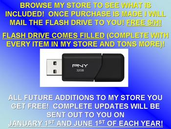 WHOLE STORE BUNDLE FLASH DRIVE (900+ Assignments / 3000+ Pages) - SCIENCE!