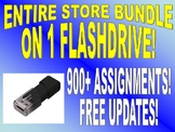 WHOLE STORE BUNDLE FLASH DRIVE (600+ Assignments / 2500+ P