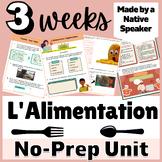 FRENCH THEMATIC UNIT BUNDLE | Nourriture | Food | 3 + weeks | français | AP