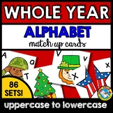 WHOLE YEAR ALPHABET LETTERS MATCH UP,  BACK TO SCHOOL ACTIVITY PRESCHOOL CENTER