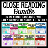 Close Reading - Passages and Reading Comprehension Activities BUNDLE