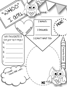 WHOO I AM All About Me Owl Themed Printable 738465 on christian history