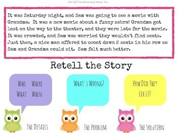 #Oct2017SLPMustHave WHOOO Can Retell A Story? Digital NO PRINT Language