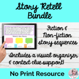 Story Retell Bundle NO PRINT Speech Therapy | Distance Learning